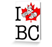I PNW:GB BC (white) Maple Leaf v2 Greeting Card