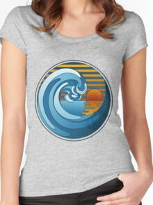Circle Landscape Women's Fitted Scoop T-Shirt