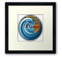 Circle Landscape Framed Print