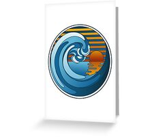 Circle Landscape Greeting Card