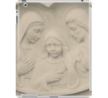 Jesus As A Young Boy With Mary and Joseph iPad Case/Skin
