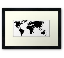 A Simple Globe Framed Print