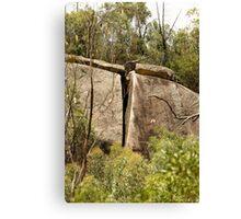 Vertical Split Cliff Canvas Print