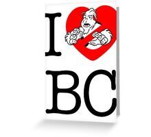 I PNW:GB BC (white) v2 Greeting Card
