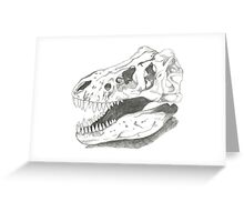 Trex skull Greeting Card