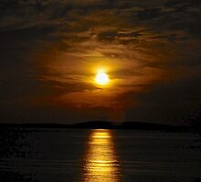 This is a moonset not a sunset by Ian Berry