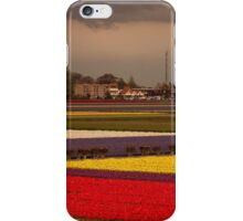 Black Cloud Heralds Rain Over Dutch Tulip Fields iPhone Case/Skin