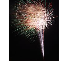 A Firework Snowcone  Photographic Print