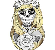 Santa Muerte Blond hair by artetbe