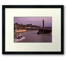 Heading Home to Whitby Harbour Framed Print