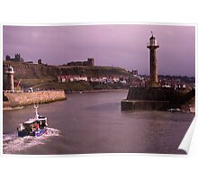 Heading Home to Whitby Harbour Poster