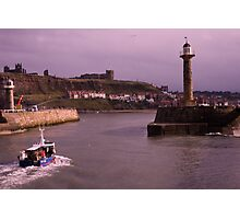 Heading Home to Whitby Harbour Photographic Print
