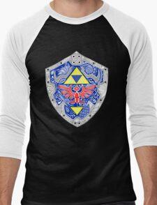 Zelda - Link Shield doodle Men's Baseball ¾ T-Shirt