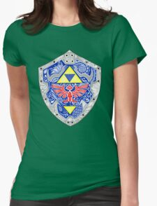Zelda - Link Shield doodle Womens Fitted T-Shirt