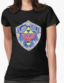 Zelda - Link Shield doodle Womens Fitted T-Shirt