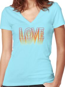 Love Vibrations Women's Fitted V-Neck T-Shirt