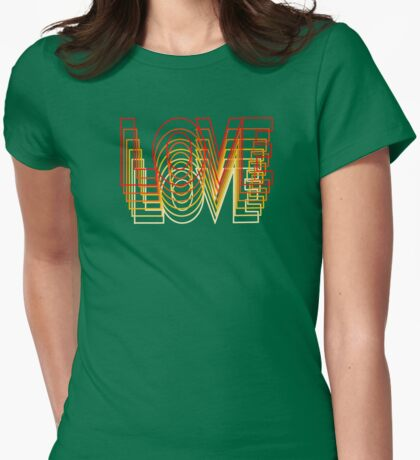 Love Vibrations Womens Fitted T-Shirt