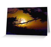 Golden Coastal Sunset Greeting Card