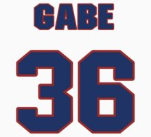 National baseball player Gabe White jersey 36 T-Shirt