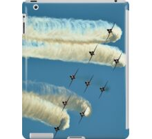 Red Arrows trailing smoke across the sky iPad Case/Skin