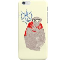 shocker Monkey Brown iPhone Case/Skin