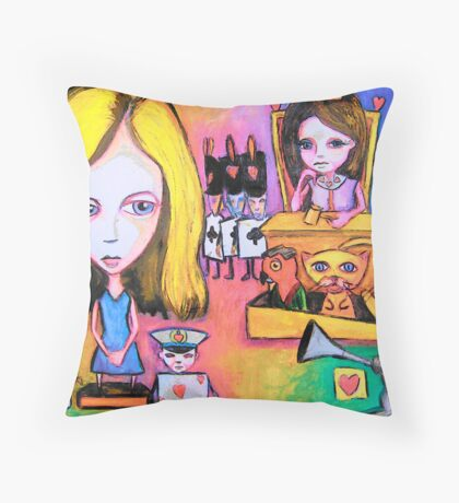 Alice V. The Queen Of Hearts Throw Pillow