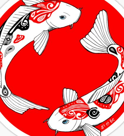 Japanese koi Sticker