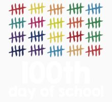 Excellent '100th Day of School Hashmark Colors' T-shirts, Hoodies, Accessories and Gifts Kids Clothes