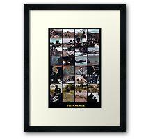 Snippets of the Vietnam War Framed Print