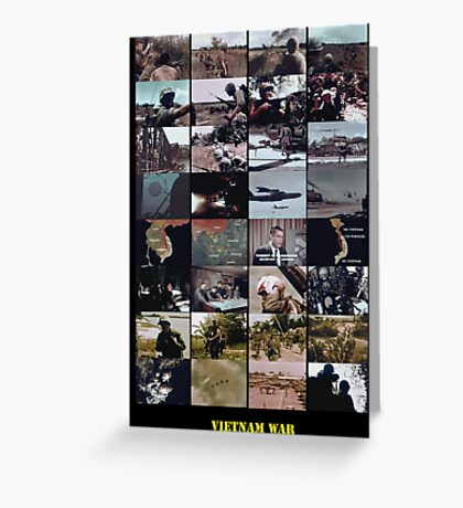Snippets of the Vietnam War Greeting Card