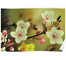 Yoshie blossom green Poster