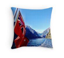 Milford Sound Throw Pillow