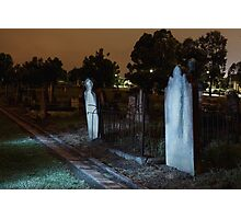 Moonlit Gravestones Photographic Print
