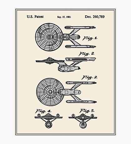 Enterprise Toy Figure Patent - Colour Photographic Print