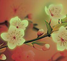 Yoshie blossom peach by Lara Allport