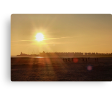 Sunset sport practice Canvas Print