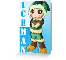 Net Navi Iceman.EXE Greeting Card