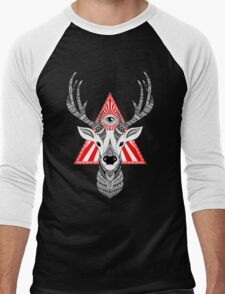 Mystical Deer Men's Baseball ¾ T-Shirt