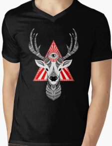 Mystical Deer Mens V-Neck T-Shirt