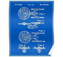 Enterprise Toy Figure Patent - Blueprint Poster