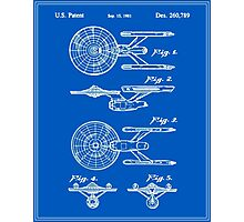 Enterprise Toy Figure Patent - Blueprint Photographic Print