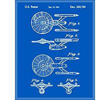 Enterprise Toy Figure Patent - Blueprint Photographic Print