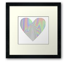 Shiny Rainbow Heart Framed Print