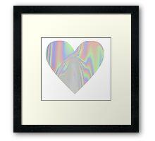 Shiny Rainbow Heart Framed Print