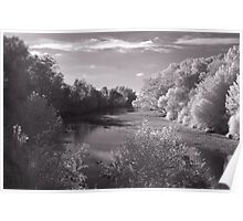 Infrared River Poster