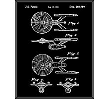 Enterprise Toy Figure Patent - Black Photographic Print