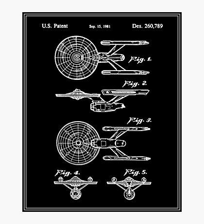Enterprise Toy Figure Patent - Black Photographic Print