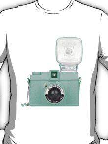 Neptune Green Vintage Camera T-Shirt