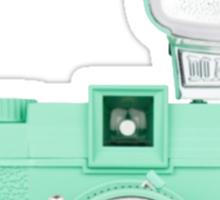 Neptune Green Vintage Camera Sticker