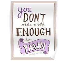 No Yawning! Poster